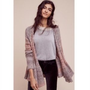 Anthro Knitted and Knotted Cody Peplum Cardigan